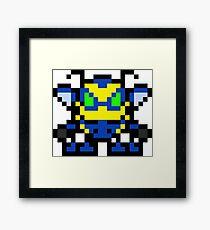 Pixel Buck Bumble Framed Print