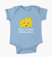Thats What Cheese Said Short Sleeve Baby One-Piece