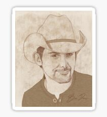 Brad Paisley Portrait B Sticker