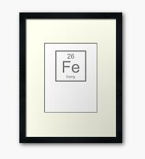Irony Element Framed Print