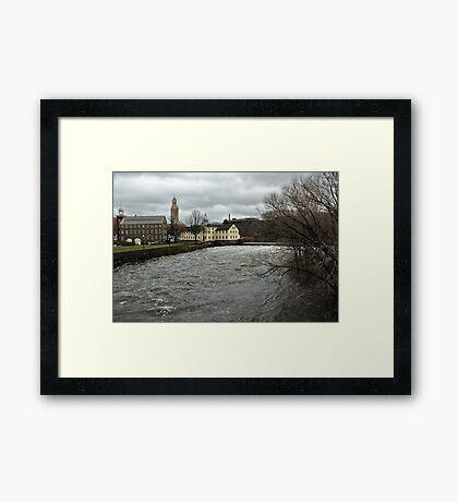 Slater Mill in Winter Framed Print