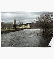 Slater Mill in Winter Poster