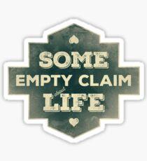 Some Empty Claim Sticker