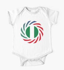 Nigerian American Multinational Patriot Flag Series Kids Clothes