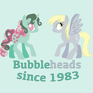 Bubbleheads - Fizzy and Derpy by Gabihime