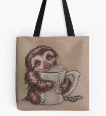 Sloth Coffee Tote Bag