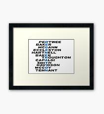 Doctor Who Regeneration Framed Print