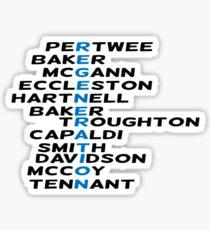 Doctor Who Regeneration Sticker