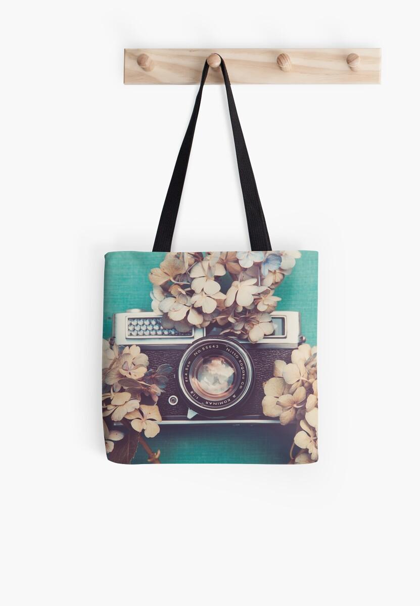 Camera & Hydrangea by Bethany Helzer