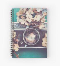 Camera & Hydrangea Spiral Notebook