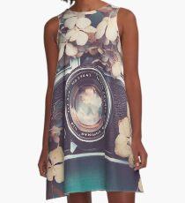 Camera & Hydrangea A-Line Dress
