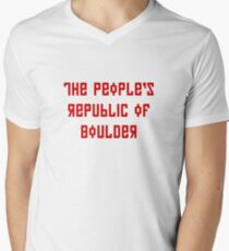 The People's Republic of Boulder (red letters) T-Shirt
