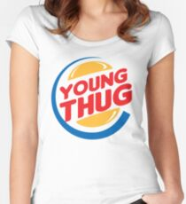 Young Thug Burger King Women's Fitted Scoop T-Shirt