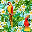 Tropical Parrot Chillin Pattern by rcurtiss000