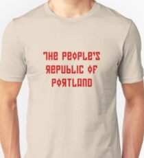 The People's Republic of Portland (red letters) Unisex T-Shirt
