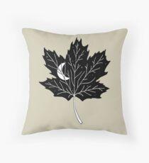 Moon Leaf- Maple Throw Pillow