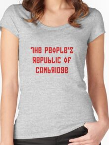The People's Republic of Cambridge (red letters) Women's Fitted Scoop T-Shirt