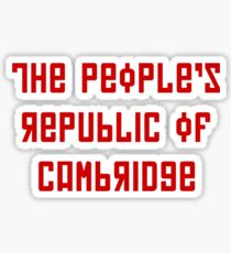 The People's Republic of Cambridge (red letters) Sticker