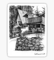 Cottage in North Vancouver Sticker