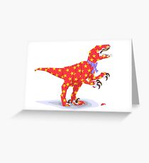 Surprise! It's a velociraptor! Greeting Card