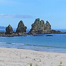 Rocks at Otama Beach by Graeme  Hyde