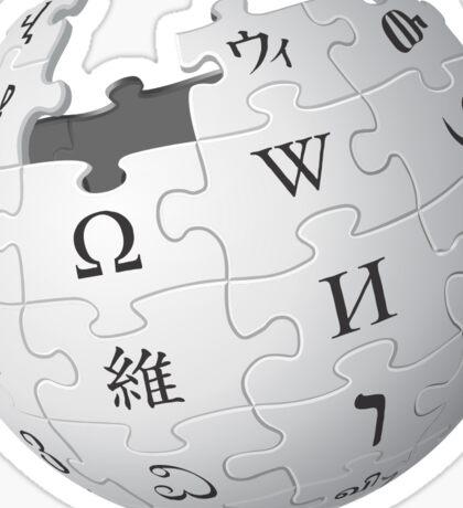 The Wikipedia Logo Sticker