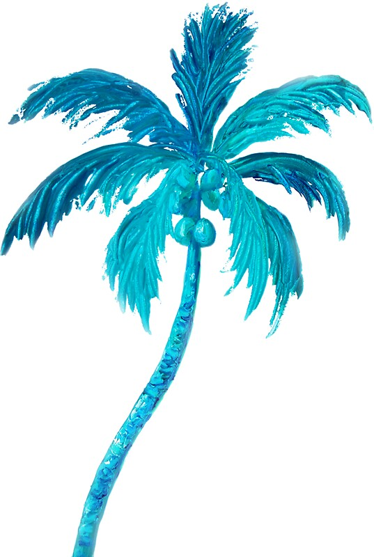 Quot Coconut Palm Tree Quot Stickers By Matsonartdesign Redbubble