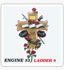 Ladder 9 Engine 33 Sticker