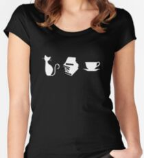 Cats, Books, and Coffee Women's Fitted Scoop T-Shirt