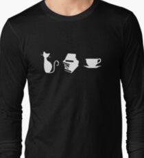 Cats, Books, and Coffee Long Sleeve T-Shirt