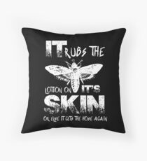 It Rubs The Lotion On Its Skin Throw Pillow