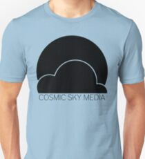 Cosmic Sky Media Logo (Black) Unisex T-Shirt
