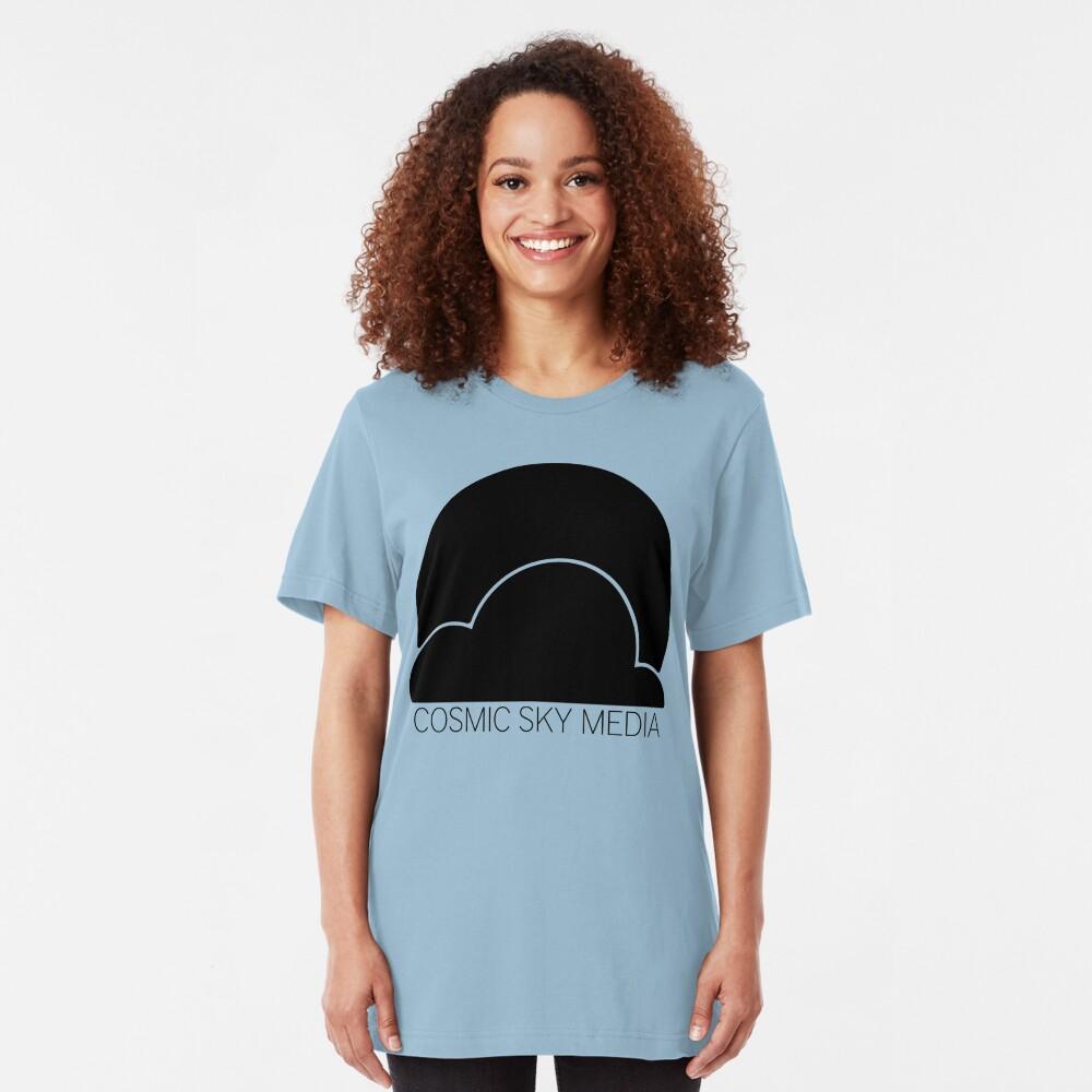 Cosmic Sky Media Logo (Black) Slim Fit T-Shirt