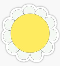 Daisy Graphic Design, White and Yellow Nature Sticker