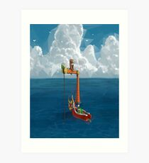 Wind Waker-Lone Ocean  Art Print