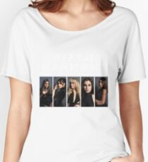 Fifth Harmony 7/27 Portrait #WhiteText Women's Relaxed Fit T-Shirt