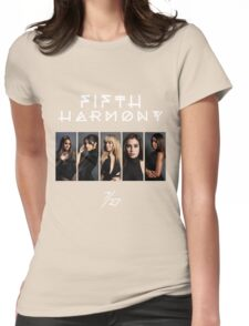 Fifth Harmony 7/27 Portrait #WhiteText Womens Fitted T-Shirt