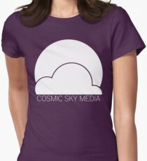 Cosmic Sky Media Logo (White) Women's Fitted T-Shirt