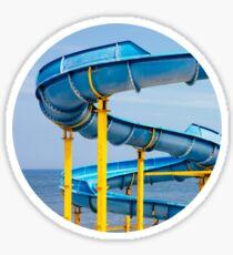 Blue Water Slide Sticker