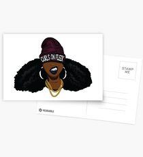 Curls on FLEEK Postcards