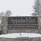 Snowy Appalachian State University Sign by Collin Scott