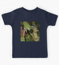 Blue-winged helicopter damselfly in flight Kids Tee