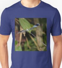 Blue-winged helicopter damselfly in flight T-Shirt