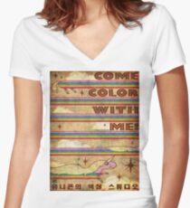 Lady Rainicorn Women's Fitted V-Neck T-Shirt