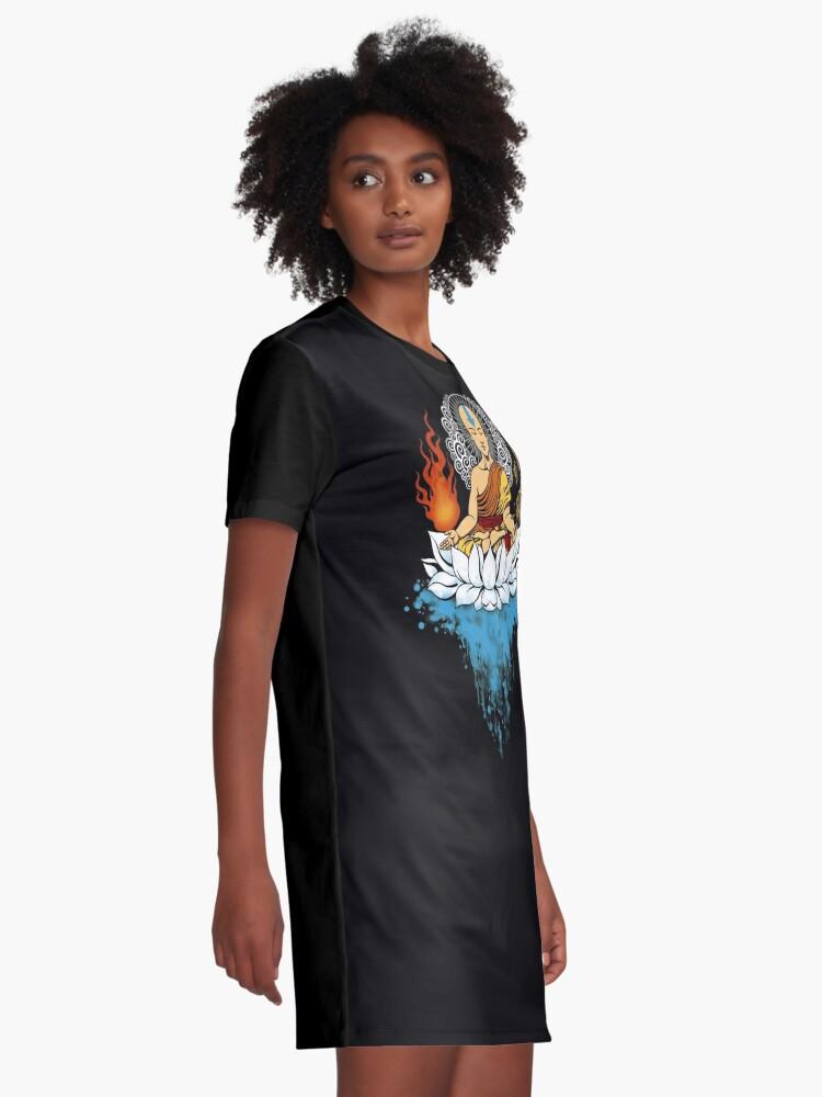 Vista alternativa de Vestido camiseta Ilustración