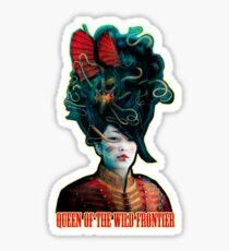 Queen of the Wild Frontier Sticker