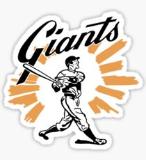 San Francisco Giants Schedule Art from 1958 Sticker