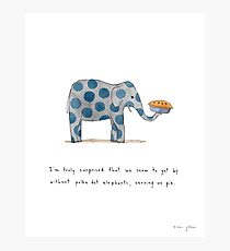polka dot elephants, serving us pie Photographic Print