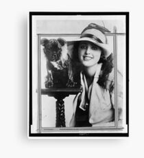 Old Time Photographs - Virginia Rappe Canvas Print