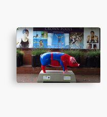 Spider Pig Visits Crown Pools, Ipswich Canvas Print
